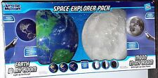 SPACE EXPLORER PACK Uncle Milton Earth and Moon In My Room with Remote NEW