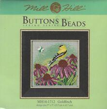 Goldfinch Bird Flower Mill Hill Buttons & Beads Cross Stitch Kit