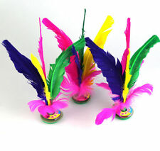 FD3447 Feather Chinese Jianzi Kicking Shuttlecock Foot Exercise Outdoor Game 1pc
