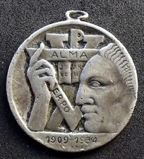 1934 URUGUAY A.C.J Montevideo YMCA SILVER WEDDING - SCARCE ART DECO SILVER MEDAL