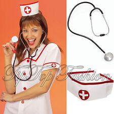 Nuevo Vestido Enfermera-Up Diversión Sombreros Gorras Sombreros & realista Estetoscopio Utilería Accesorio