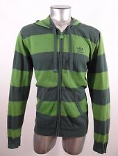 adidas men's hooded jacket sweater green M