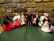 Vintage Peggi Nisbet Costume Doll Collection King Henry VIII and All His Wives.
