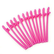 24 X Jumbo Hen Party Night Straws Willy Accessories Girls Out Do Novelty - Pink