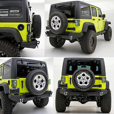 "07-17 Jeep Wrangler JK Rock Crawler HD Rear Bumper+Solid Plate Wrapped+2"" Hitch"