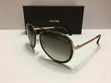 New Tom Ford Andy TF468 41K Brown Rose Gold/Gray Gradient 100% Authentic