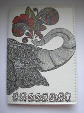 PASSPORT Cover Case - ELEPHANT -  Travel Wallet  Faux leather  NEW