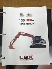 LINK BELT 130 X2 EXCAVATOR PARTS MANUAL BINDER