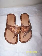 Womens Size 4 Leather Sandles Huaraches from Mexico New with out Box
