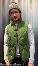 MARSHALL ARTIST Men's Duck Down Diamond-Quilted Fishing Vest M Olive Green *NWT*