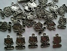 30 X Tibetan Silver  Hello Kitty Charms