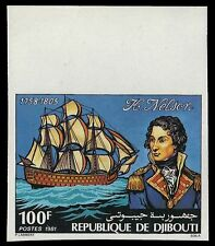 "DJIBOUTI 531P (Mi306P) - Lord Nelson and ""H.M.S. Victory"" Imperf (pf39532) NH"