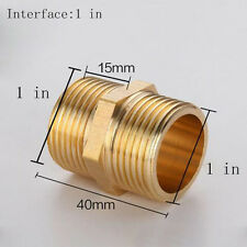 1'' Pipe Fittings Couplings Thread Pipe Air,Water, Gas & Fuel Hex Brass Pipe