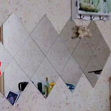 16Pcs 20*20cm Self Adhesive Mirrors Mosaic Tiles Wall Stickers Home Decoration