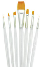 ANGULAR FLAT ROUND FILBERT ARTIST WATERCOLOUR ACRYLIC OIL PAINT BRUSH SET Spec7