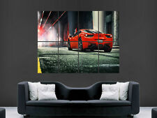 FERRARI 458 ITALIA SUPERCAR  ART WALL PICTURE POSTER  GIANT !!