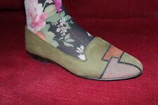80er Vintage Damen LEDER Ballerinas 38 TAMARIS 80s SUEDE FLATS Slipper Loafers