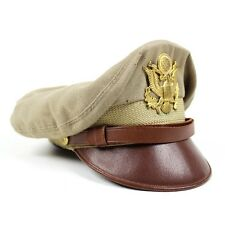 SCARCE USAAF ARMY AIR FORCES KHAKI BANCROFT FLIGHTER OFFICERS DRESS CAP AAF AC