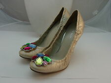 "NINE WEST Champagne Multi-Color Rhinestone 4"" NWERLAN Heels size 9M 9 M"