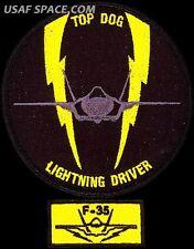 USAF 61st FIGHTER SQUADRON - TOP DOG -LIGHTNING DRIVER & F-35 TAB ORIGINAL PATCH