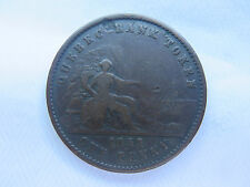 1852 QUEBEC BANK PENNY TOKEN PROVINCE of CANADA DEUX SOUS