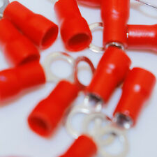 20x Red Ring Cold-pressed Crimp Terminals AWG16-22 Insulated Wire Connectors CA