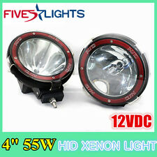 2X 4 INCH 55W 12V ROUND SPOT HID XENON LIGHT DRIVING TRUCK BOAT OFFROAD 6000K 7