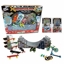Ideal Gift Kids - Big Box Skate Park Halfpipe- Finger Skate, Rollers, Scoot, BMX