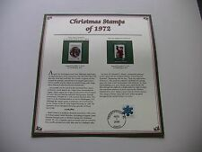 8 Cent Mary Queen of Heaven, Twas Night Before Christmas 1972 Christmas Stamps