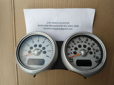 BMW MINI ONE COOPER S DUAL REV COUNTER AND SPEEDO R50 R52 R53 2002-2006 FREE P&P