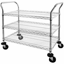 Sandusky Lee MWS362438 Adjustable Wire Shelf Cart with Pull Handle, 800 lb. x x