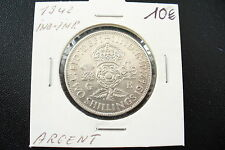 ANCIENNE MONNAIE ANGLETERRE - 2 SHILLINGS INDE 1942 ARGENT  -  !!(1/03/16) SUP+