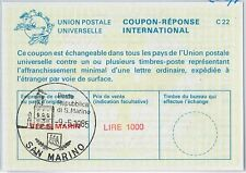 COUPON REPONSE  - Lausanne Model :  SAN MARINO 1985