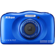 New Nikon COOLPIX W100 13.2 MP Waterproof Shockproof Digital Camera (Blue)