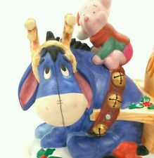 Disney Winnie the Pooh 1998 Christmas at Our House Eeyore Piglet Candle Holder