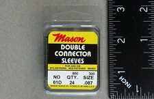 Mason 61D Heavy Duty Double Connector Sleeves 24 Pack Crimps