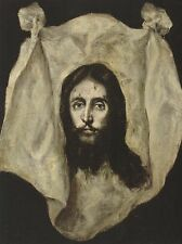 "+""Holy Face of Jesus"" -On Cloth-  ~A Post Card~"