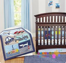 7 Piece Cute Transportation Baby Crib/Cot Bedding Set - Everything You Need!!!