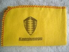 KOENIGSEGG SUPER CAR:NEW LARGE HI-QUALITY CLEANING CLOTH DUSTER WITH  LOGO DECAL