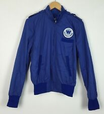VINTAGE RETRO 90'S SPORTS CANADA USA BRIGHT BOLD COAT JACKET WINDBREAKER UK M