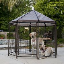 Outdoor Dog Kennel Pet Cat Enclosure Chickens House Crate Cage Patio Deck Yard