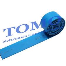Guaina termorestringente 19,1mm di colore azzurro 1m
