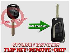 New Style Flip key Remote compatible for Avensi Verso Torago RAV4 Corolla TF204