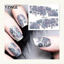 Feuille Stickers Nail Art Water YZW-137 Forme 021