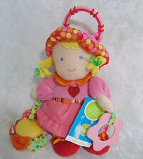 NEW Carters ACTIVITY DOLL Plush Rattle Crinkle Teether Baby Toy Girl Hangs NWT!
