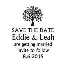 Save the Date Wedding Party stamp, DIY wedding custom