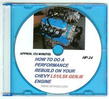 "How to Rebuild the Chevy GM LS1 LS3 LS6 Gen III LS Engine Video Manual ""DVD"" !"