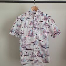 GITMAN BROS VINTAGE 3D BUTTON UP HAWAIIAN COLLARED SHIRT BROTHERS MSRP $228