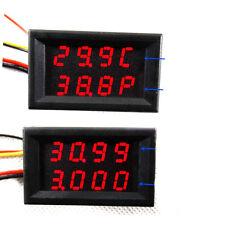 Digital led Spannungsmesser Volt Thermometer power meter + DS18B20 Sensor 12v R