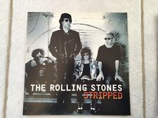 ROLLING STONES STRIPPED 1995 PROMO ALBUM ART POSTER FLAT RARE MICK JAGGER MINT